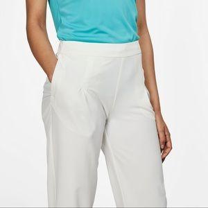 New Nike golf flex woven crop pants off white $90